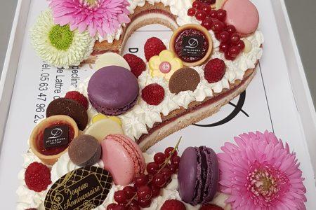 Number cake plaisirs de fraises